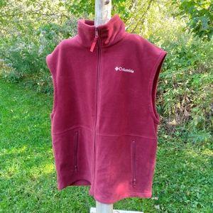 columbia fleece vest